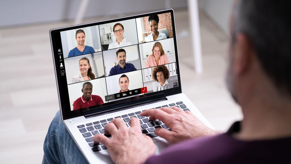 Our brains have to work harder in virtual meetings, and having lots of them during the day can take a toll (Credit: Alamy)