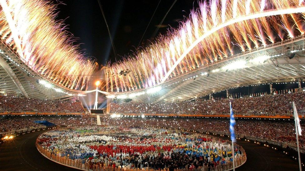 The Olympics come with pageantry, colour and, in most cases, spiralling costs for the host linked to a surfeit of optimism (Credit: Alamy)
