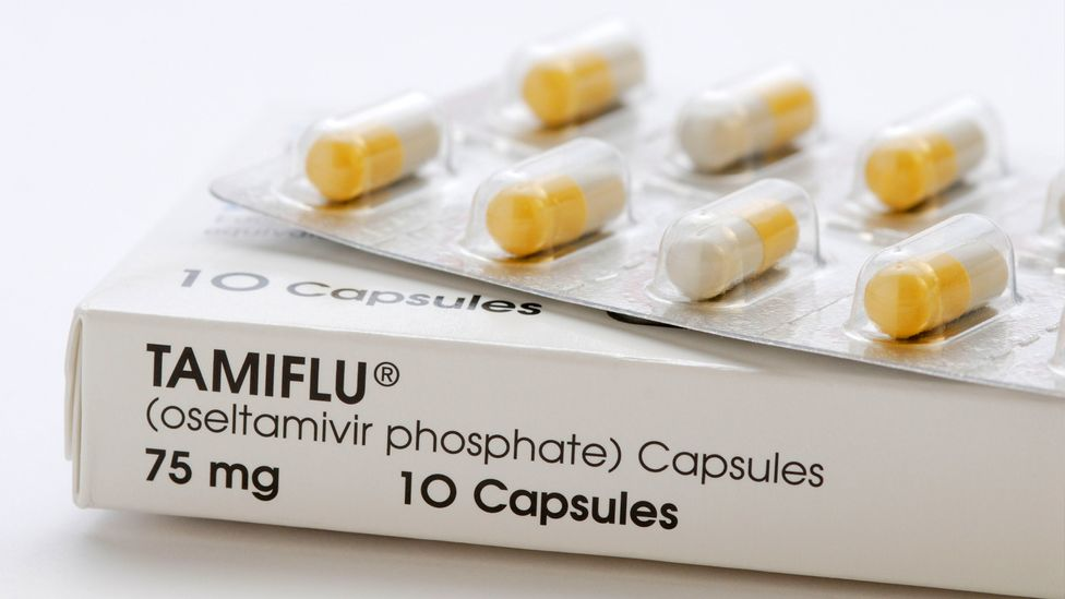 The antiviral drug Tamiflu binds to proteins on the surface of infected cells to prevent flu particles from escaping (Credit: Alamy)