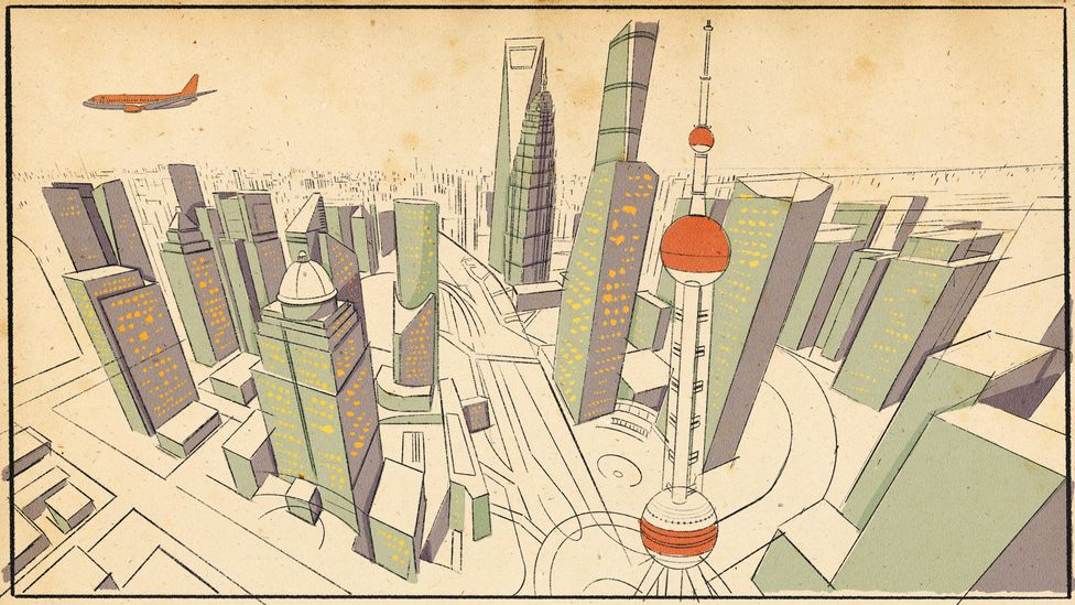 With skyscrapers at its core, Shanghai's concrete desert stretches to the horizon (Credit: Emmanuel Lafont)