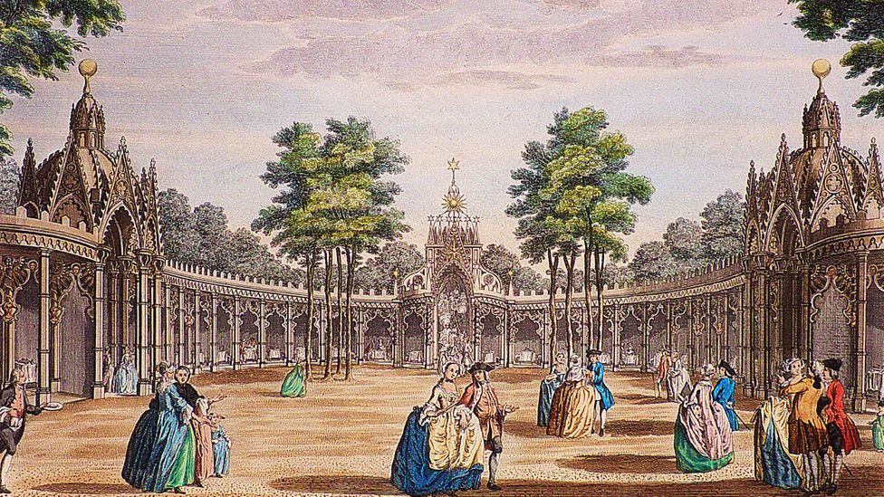 Vauxhall Pleasure Gardens was once the greatest entertainment venue in London (Credit: Coke Vauxhall and Ranelagh Collection)