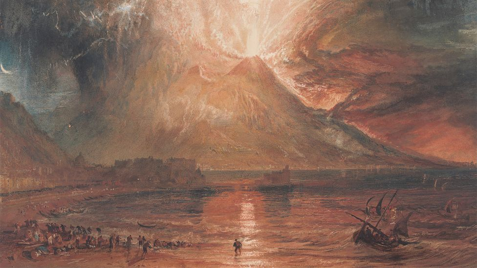 Eruptions in the distant past - before written languages and printing - may have had far-reaching effects that endure through myths and fables (Credit: JMW Turner/Getty Images)