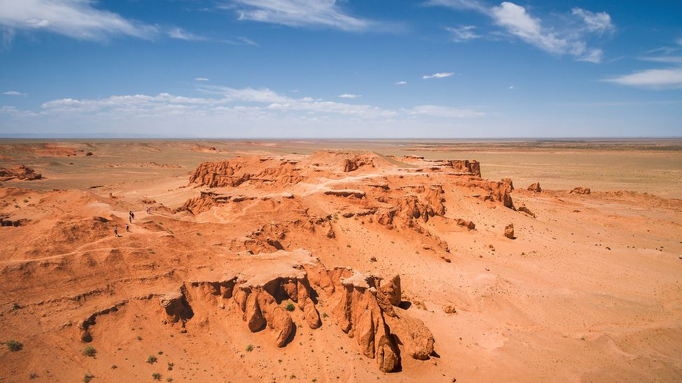 Trade routes across the Gobi Desert may have spread the myth of fantastic creatures fuelled by the discovery of dinosaur fossils  (Credit: R M Nunes/Getty Images)