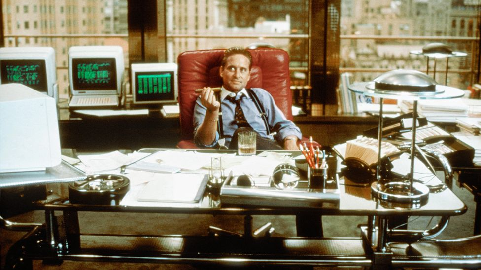 """""""Money never sleeps"""" was one of the messages from 1987's Wall Street, and many think that workaholic vibe coloured the 1980s as a decade and is still common today (Credit: Alamy)"""