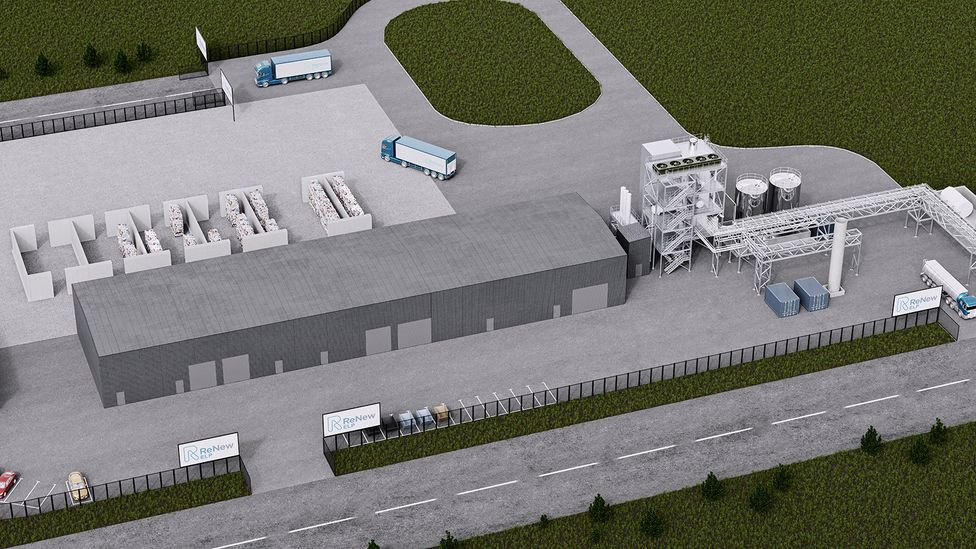 The plant that is being constructed at Teesside in the UK aims to process 80,000 tonnes of plastic waste every year (Credit: Mura)