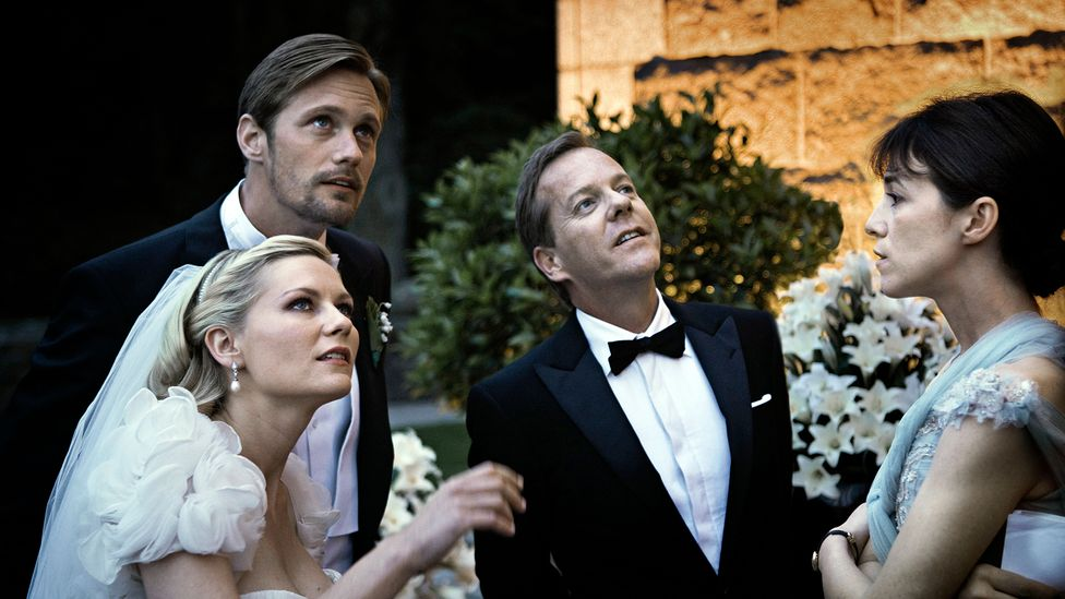 The film focuses on the wedding day of Justine (Kirsten Dunst) as her depression engulfs events (Credit: Alamy)