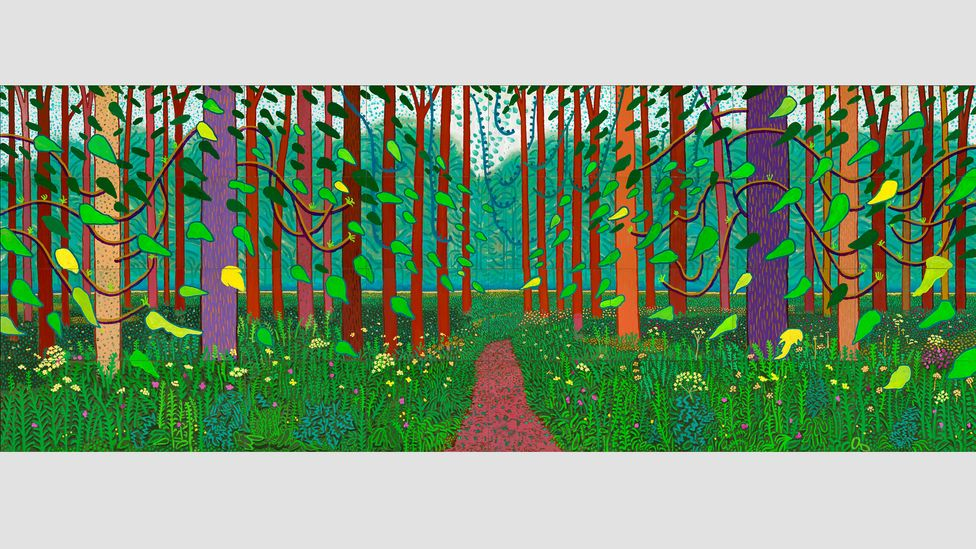 Hockney's The Arrival of Spring in Woldgate, East Yorkshire, 2011 (twenty eleven) is one of the highlights of the Houston show (Credit: David Hockney/photo Richard Schmidt)