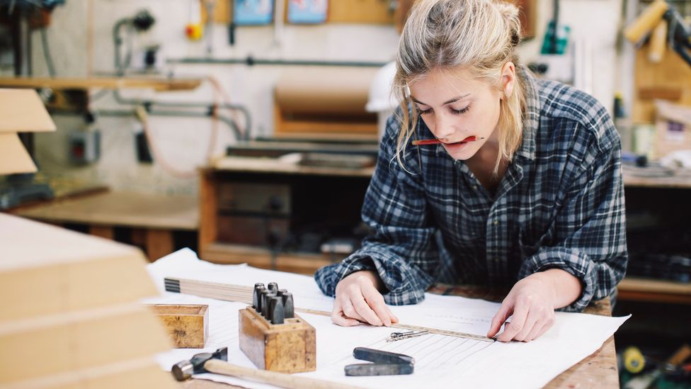 File image of a craftswoman