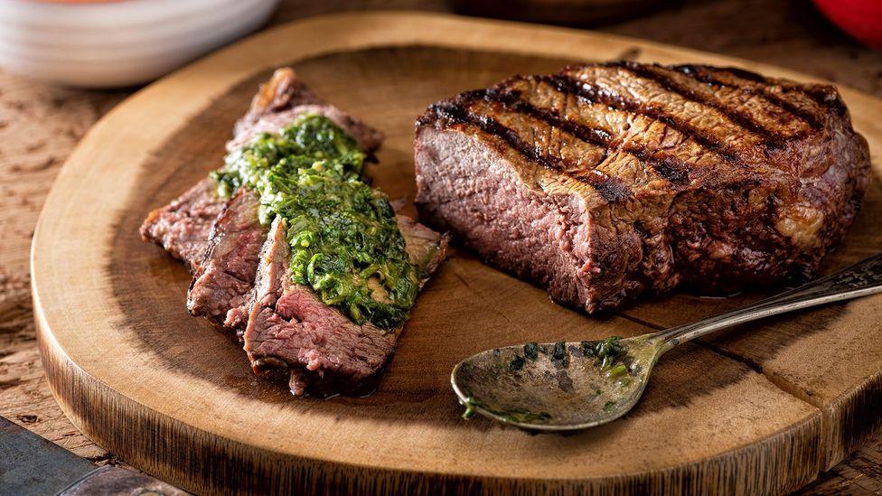 In Argentina, chimichurri is a classic accompaniment to steak (Credit: Fudio/Alamy)