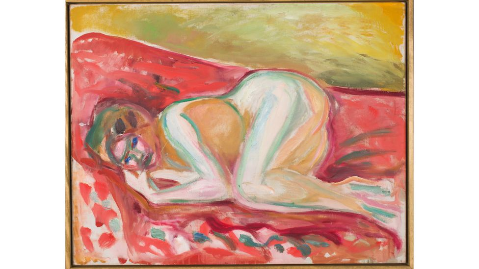 Crouching Nude, 1917-1919, by Edvard Munch – the German Expressionist valued solitude (Credit: Munchmuseet)