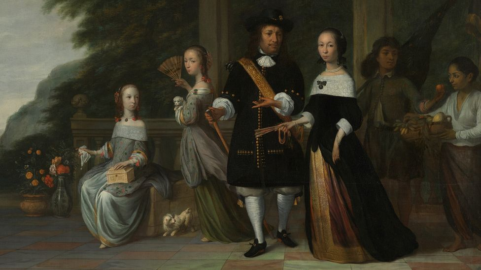 Jacob Coeman Pieter Cnoll, family and their Enslaved servant, (Credit: Rijksmuseum)