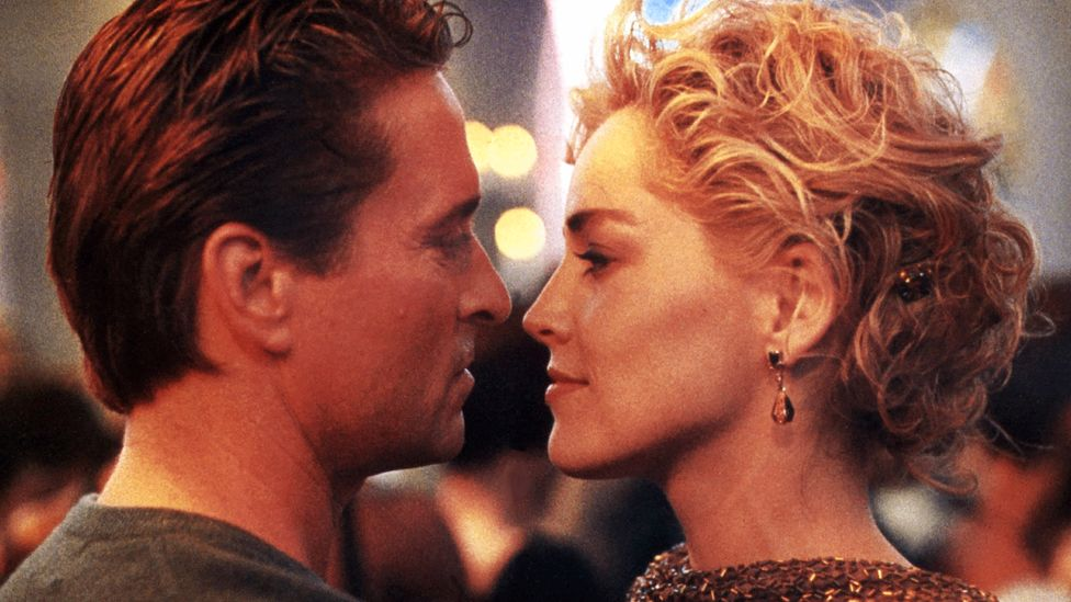 Basic Instinct's preposterous plot includes over-the-top backstories for both Sharon Stone's femme fatale and Michael Douglas's cop (Credit: Alamy)