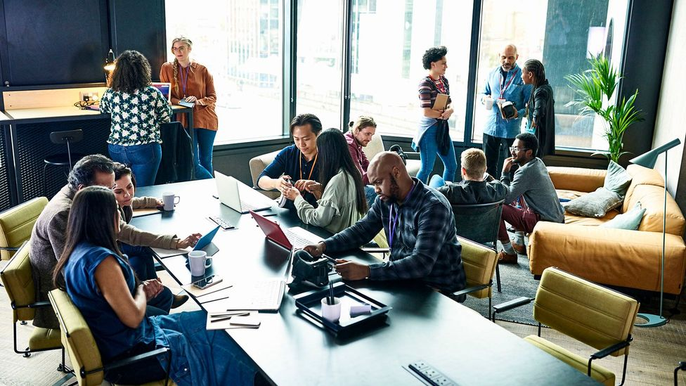 Occasionally adding new members to teams, or working with people with whom you don't usually work, helps spark innovation and out-of-the-box thinking (Credit: Getty)