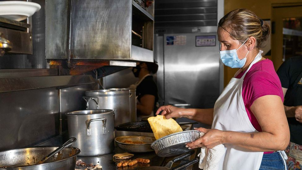 The tacos at Mitla Cafe are made to order (Credit: Ivana Larrosa)