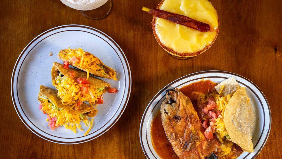 Mitla Cafe serves a menu of crispy tacos, gooey cheese enchiladas and potent margaritas (Credit: Ivana Larrosa)