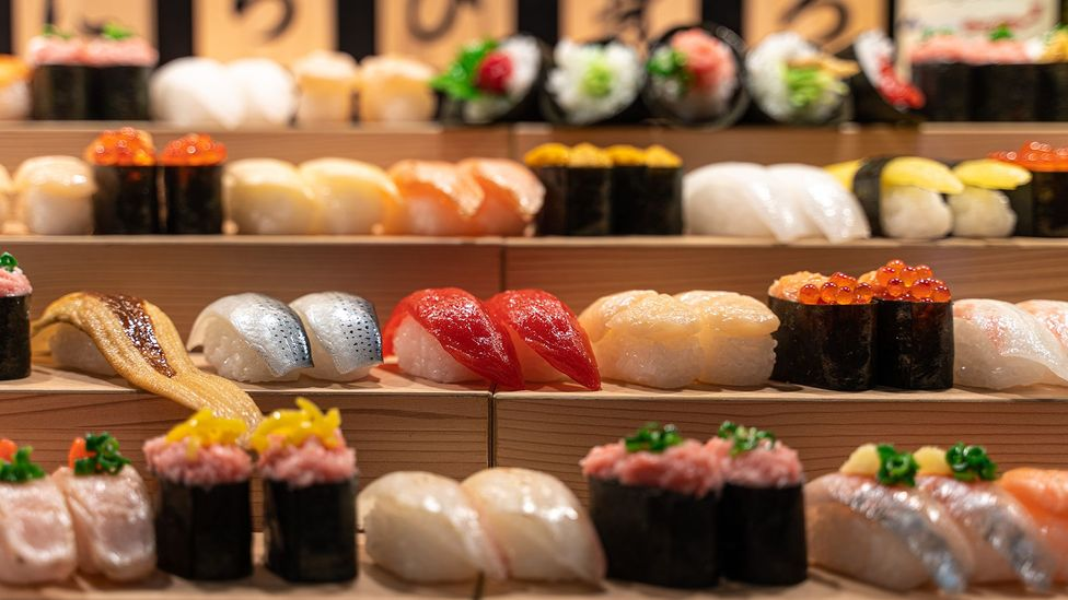 The sushi we eat today is called hayazushi (fast sushi) and was created as a fast-food version of narezushi for Tokyo's busy people (Credit: Ruben Earth/Getty Images)