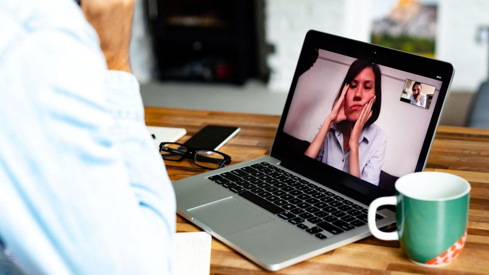 Your body language, manners and level of engagement on video-chat platforms can influence how colleagues see you and interpret your message (Credit: Getty Images)