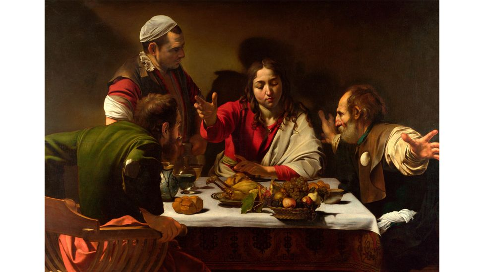 Caravaggio carefully composed The Supper at Emmaus to reflect the dynamics of the scene that it was depicting (Credit: Alamy)