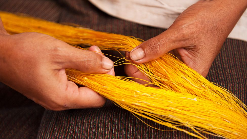 Cambodia's golden silk-making industry had been virtually wiped out by the Khmer Rouge (Credit: Golden Silk Pheach)