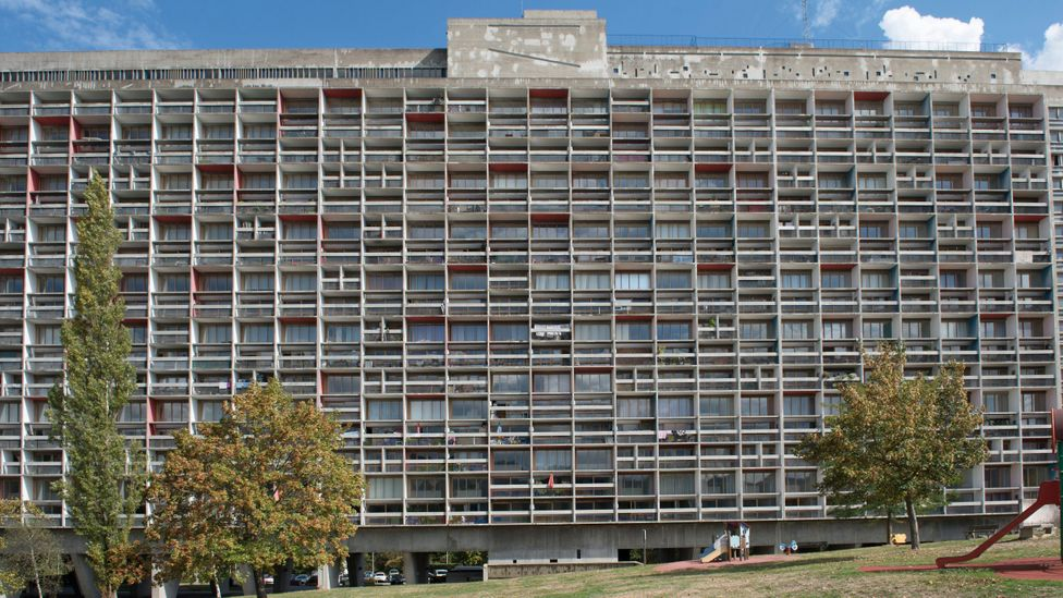 Think of concrete, and modernist architecture often comes to mind, such as the imposing buildings of Le Corbusier in France (Credit: Alamy)