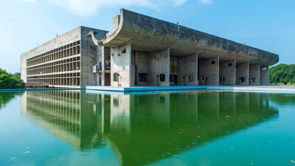 Le Corbusier also designed The Palace of Assembly, a government building in Chandigarh, India (Credit: Alamy)