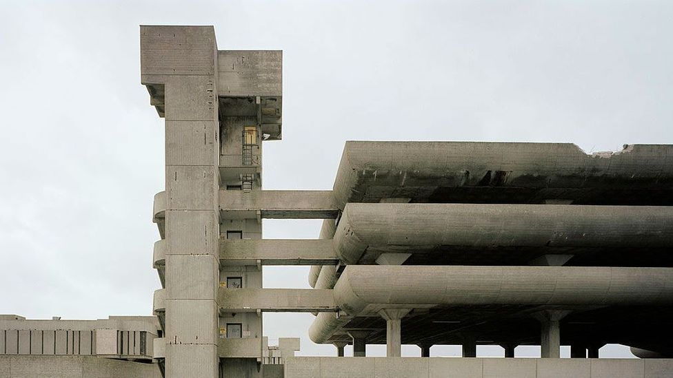 The Tricorn Centre in Portsmouth, UK, which was built in 1966, as concrete use was beginning to explode (Credit: Getty Images)