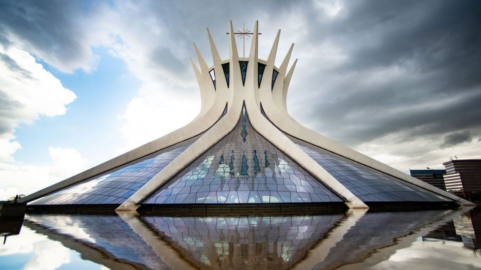 Concrete can also be stunning, however, such as the Brasilia Cathedral in Brazil (Credit: Andressa Anholete/Getty Images)