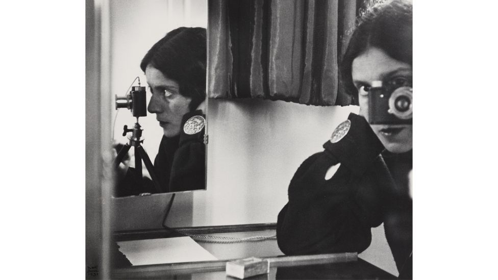 Isle Bing, shown here in a 1931 self-portrait, was known as the 'Queen of the Leica' (Credit: Ilse Bing Estate)