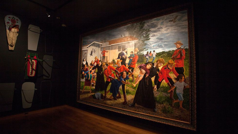 Much about The Scream – including its scale – is lost when it's viewed on social media (Credit: Kent Monkman/ Collection of the Denver Art Museum)
