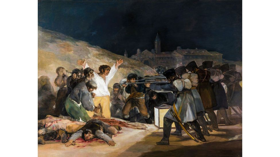 Goya's The Third of May 1808 created a timeless image of violence from specific events (Credit: Alamy)