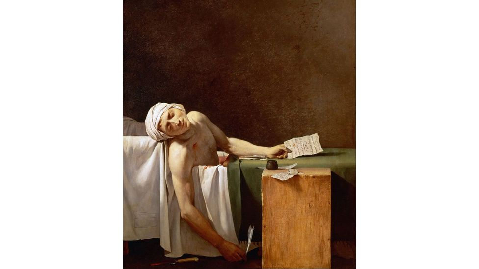 A 'propaganda painting', Death of Marat was widely shared in its time – and has become a meme today (Credit: Alamy)