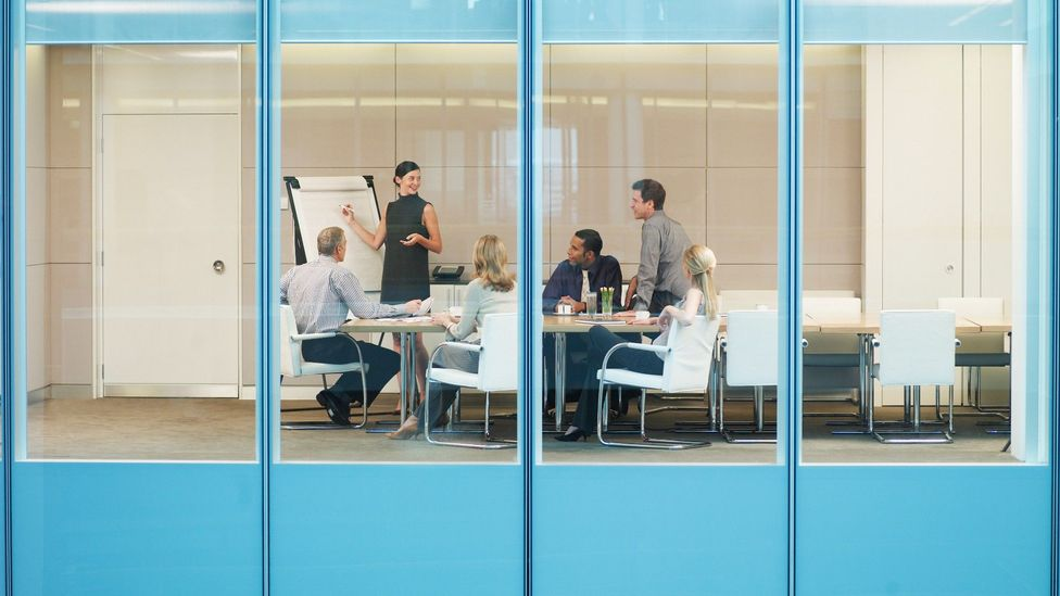 Hybrid offices will benefit from comfortable shared spaces where teams can exchange ideas (Credit: Getty)
