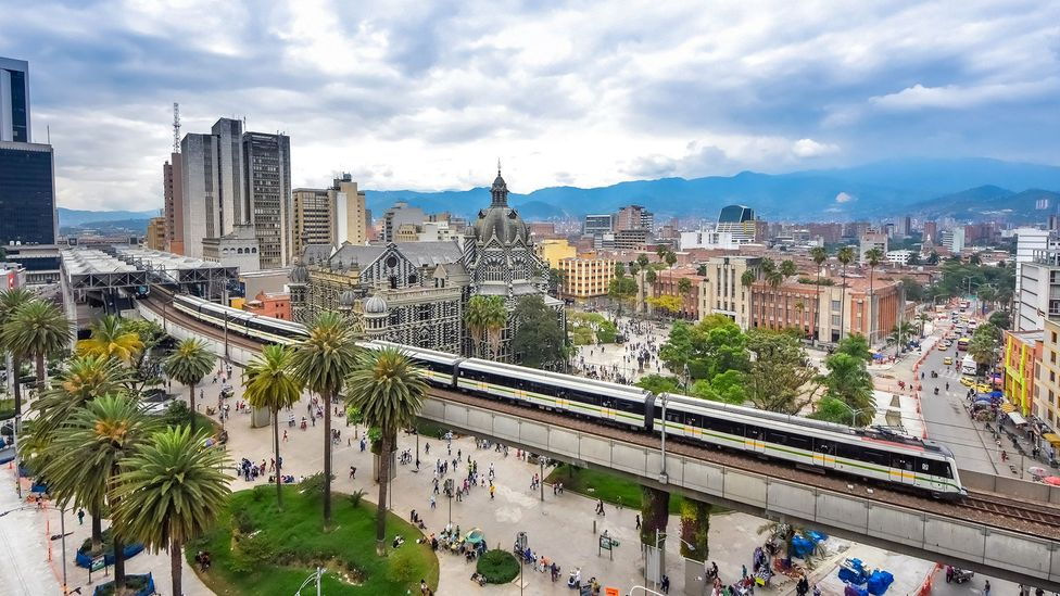 Medellin's modern network of trains, cable cars and public escalators connect the city and its people (Credit: Smartshots International/Getty Images)