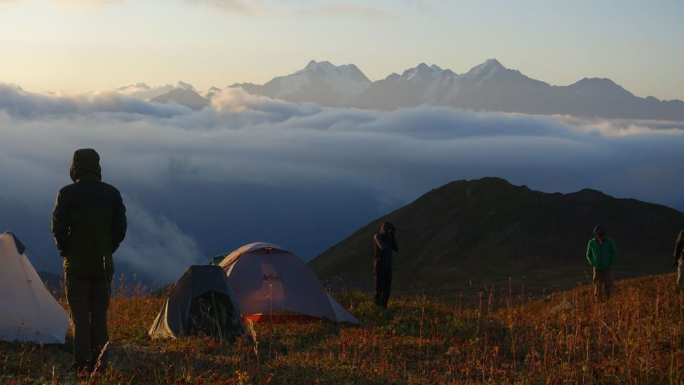 Along the route, hikers camp or stay overnight in guesthouses (Credit: Transcaucasian Trail Association)