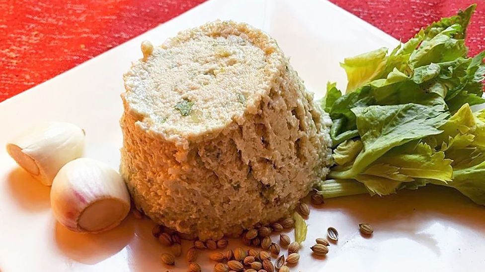 Magnanimi serves moretum, a cheese spread inspired a Virgil poem, as well as bread that was sacred to early Romans (Credit: Paolo Magnanimi)