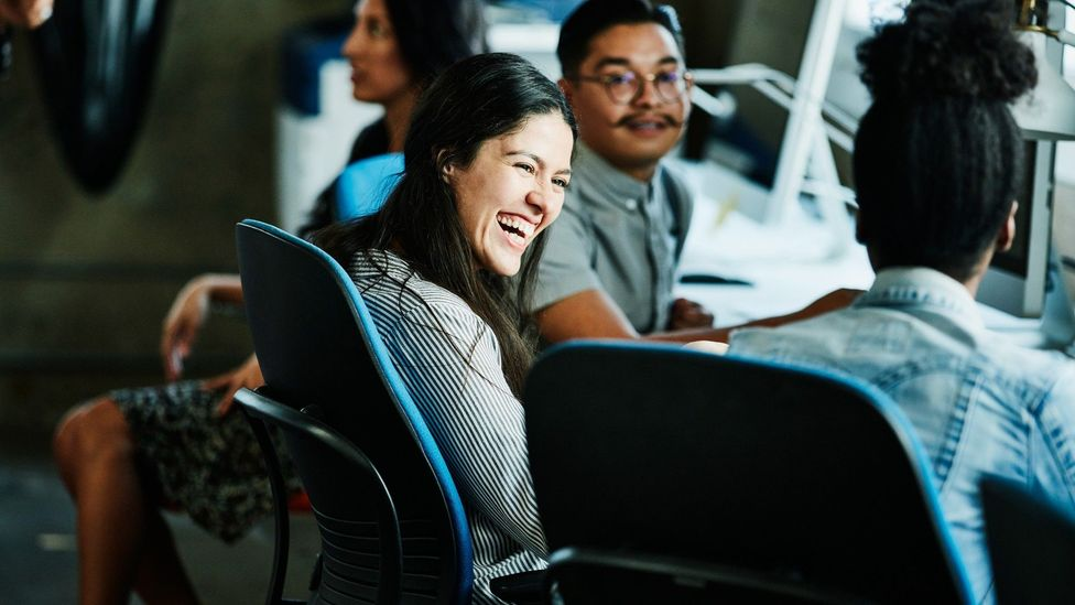 Reaffirming social bonds with colleagues will help you both in the office and when you're working virtually (Credit: Getty)