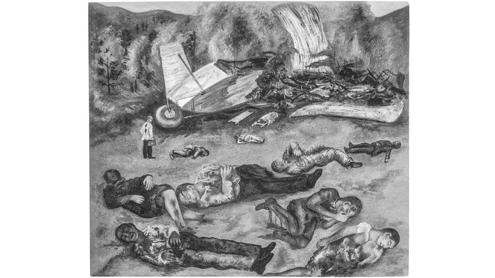 The Plane Crash, c 1936-38, is another lost artwork (Credit: Lola Alvarez Bravo/ Centre for Creative Photography, University of Arizona, Tucson/ Lola Alvarez Bravo Archive)