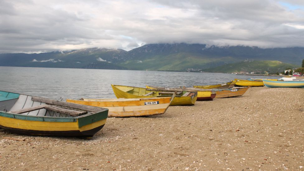 Lake Ohrid has historically been a lifeline for the nearby community, providing food and a source of income (Credit: Jessica Bateman)