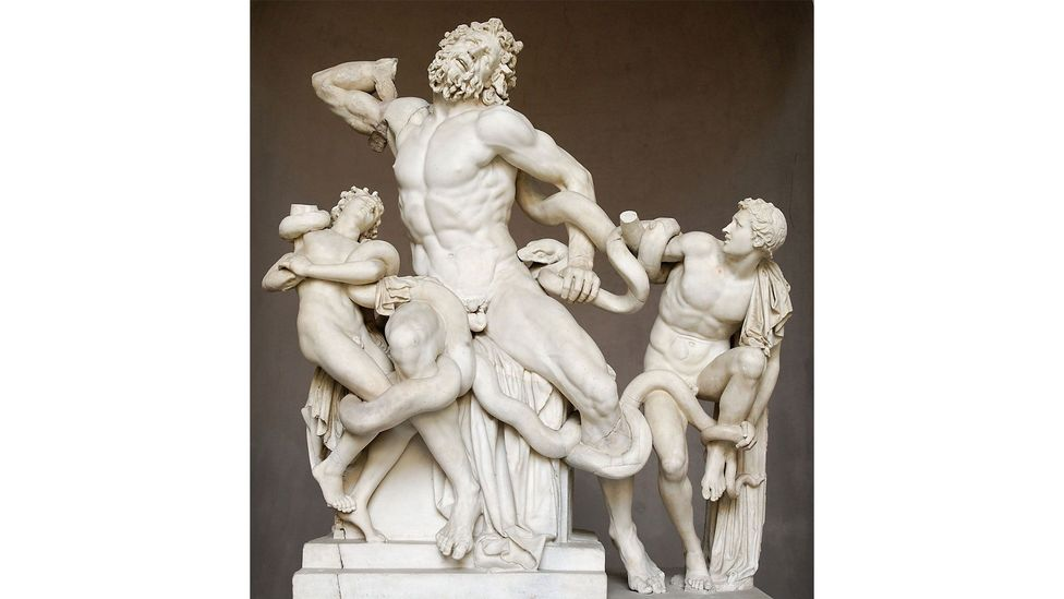 Laocoön and His Sons shows a Trojan priest being attacked by snakes (Credit: Alamy)
