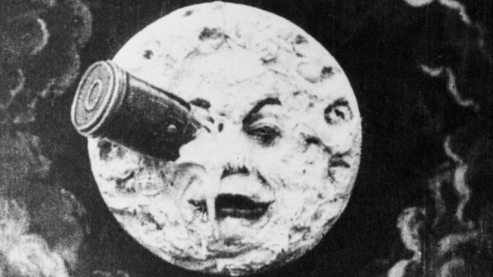 In George Melies 1902 film A Trip to the Moon, astronomers make a visit, but do not settle – and it's already inhabited (Credit: Getty Images)