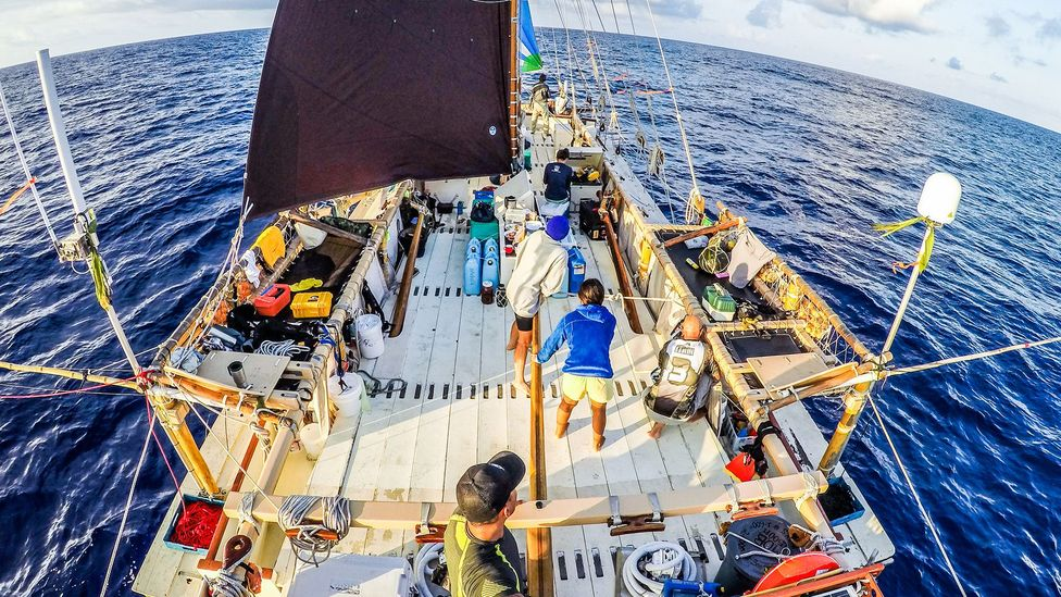 More than 200 navigators helped guide the Hōkūle'a on its around-the-world navigation (Credit: Polynesian Voyaging Society)