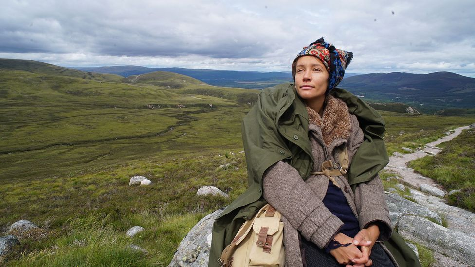 Inspired by Scottish explorer Nan Shepherd, Wortley donned 1940s trekking clothes for a three-week expedition to Cairngorms National Park (Credit: Emily Almond Barr)