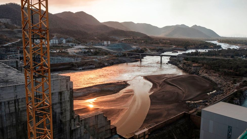 Ethiopia's Grand Renaissance Dam on the Blue Nile has led to rising tensions with Egypt and Sudan who rely on the river downstream (Credit: Eduardo Soteras/AFP/Getty Images)