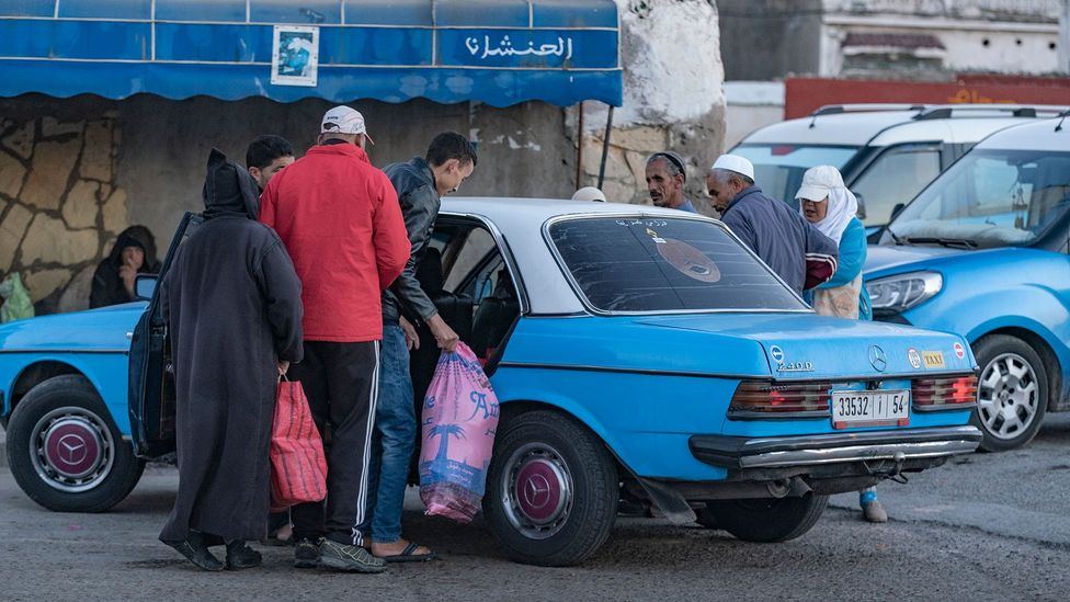 Le Grand Taxi is a popular mode of transportation in Essaouira (Credit: Sam Christmas)