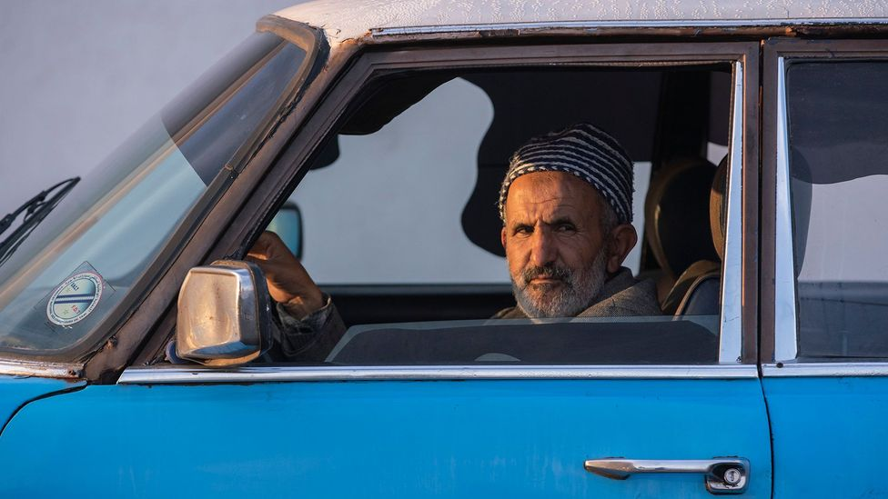 According to Hassan Mesfar, driving taxis wouldn't be the same job without his Mercedes (Credit: Sam Christmas)