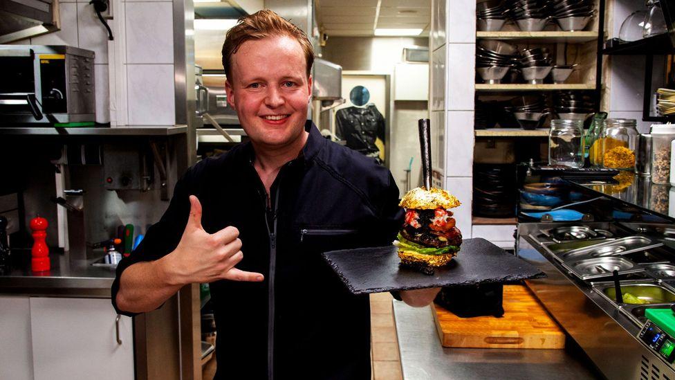 De Daltons in Voorthuizen offers The Golden Boy, a €5,000 burger that includes Dom Pérignon-battered onion rings and beluga caviar (Credit: De Daltons)