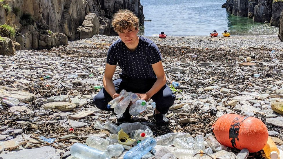 Fionn Ferreira decided to do something about the plastic that was turning up on the beaches close to his home in south west Ireland (Credit: Fionn Ferreira)