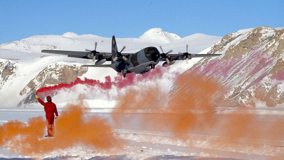 Today aircraft play a crucial role in bringing in supplies for the many scientists that live and work at bases in Antarctica (Credit: Vittoriano Rastelli/Getty Images)