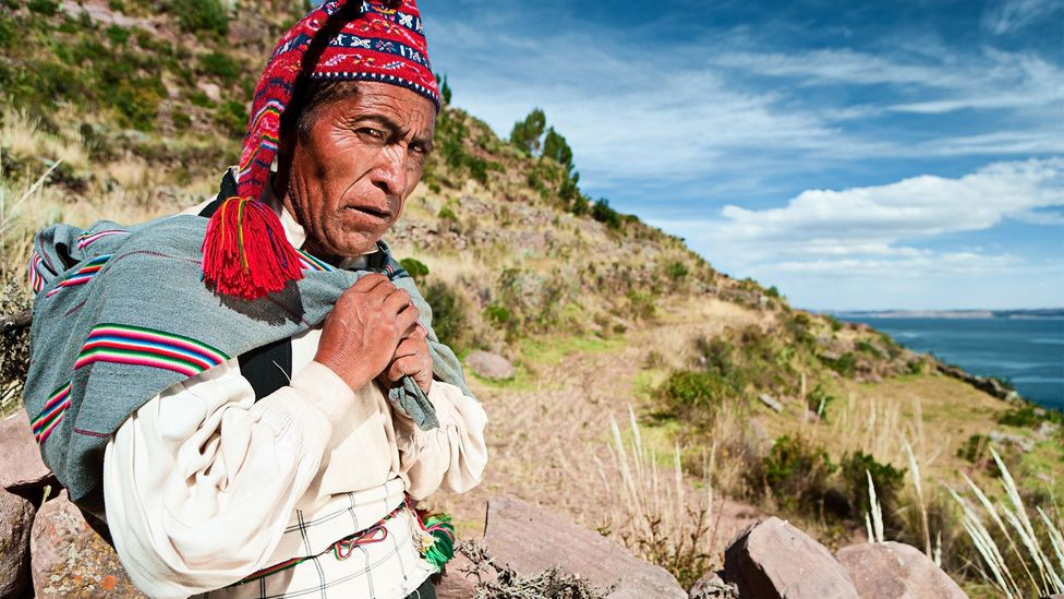 For nearly 500 years, men on Taquile have used hats as a way to express themselves and attract females (Credit: hadynyah/Getty Images)