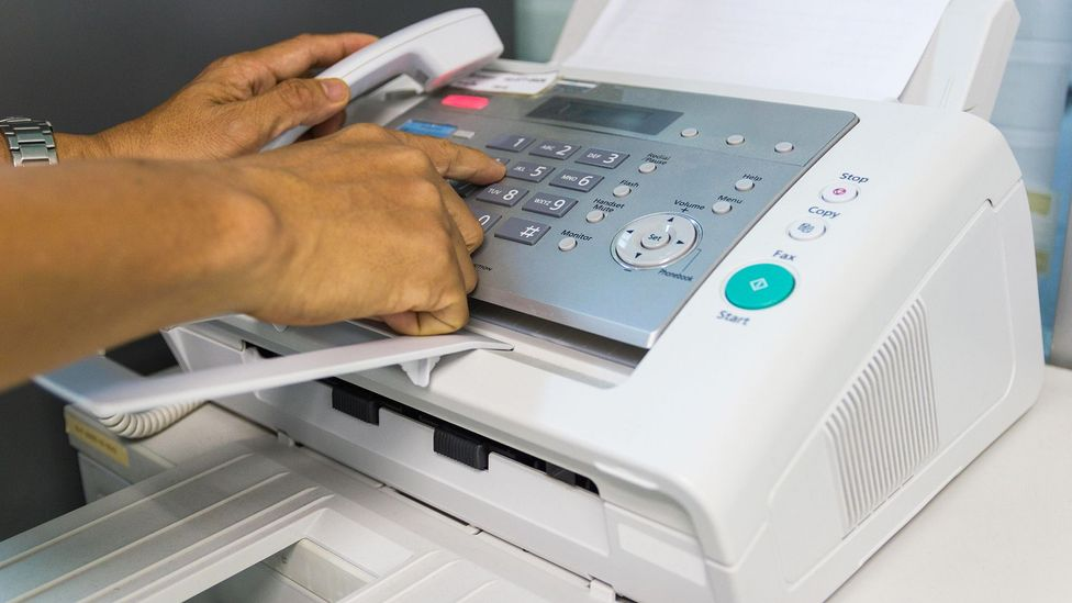 Fax machines became an essential business tool during the 1970s to the 1990s before they were replaced by email (Credit: Alamy)